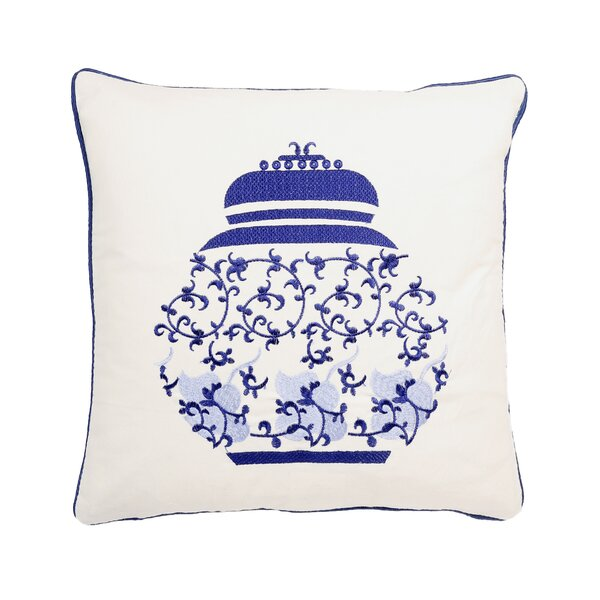 Eita Embroidery 100% Cotton Throw Pillow by Bloomsbury Market